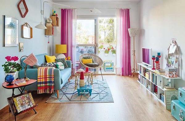 Majhno Barvito Stanovanje In Retro Stil